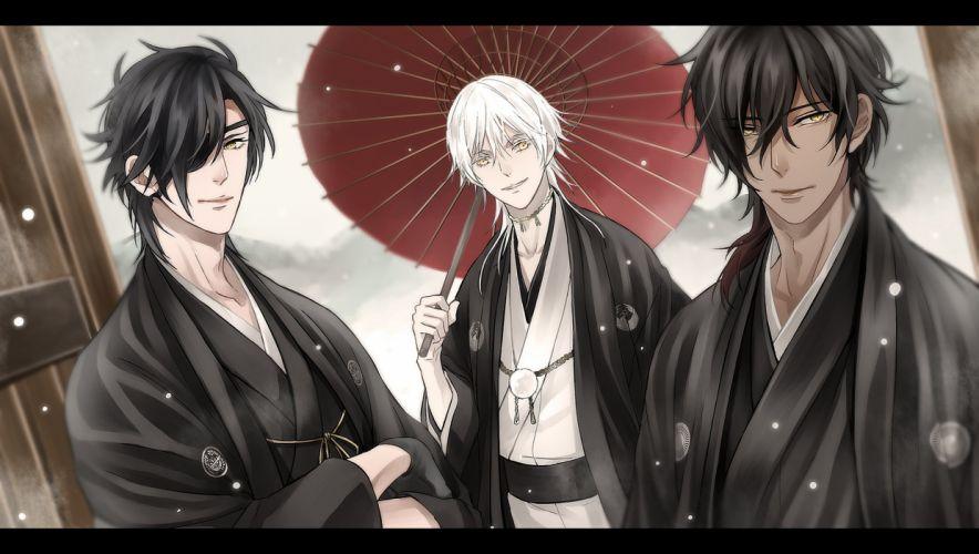 Date-gumi Touken Ranbu Game anime characters boys male cool wallpaper