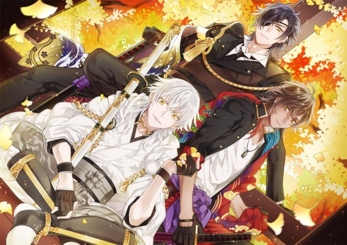 Date-gumi Touken Ranbu Game anime series characters boys male cool wallpaper