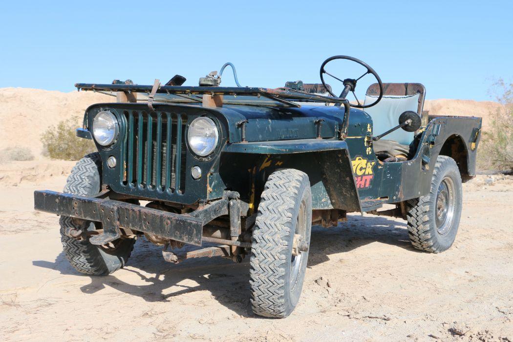 1946 Willys Cj2A offroad 4x4 custom truck jeep suv retro wallpaper