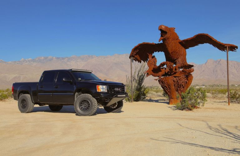 2013 GMC SIERRA 1500 offroad 4x4 custom truck pickup wallpaper