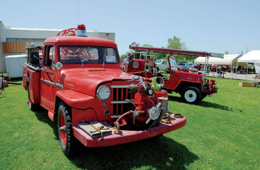 1963 WILLYS FIRETRUCK offroad 4x4 custom truck emergency classic jeep fire wallpaper