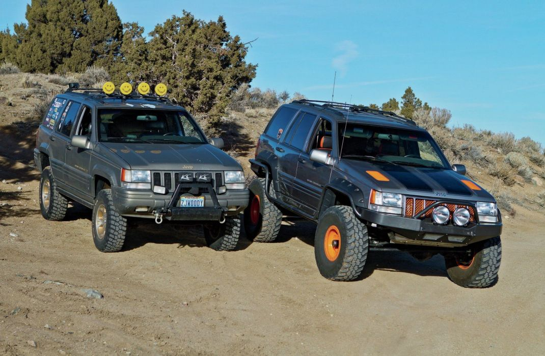 1998 jeep grand cherokee 4x4 offroad custom truck suv wallpaper