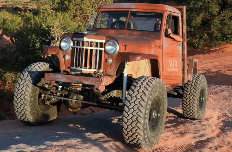 1956 WILLYS PICKUP offroad 4x4 custom truck jeep wallpaper