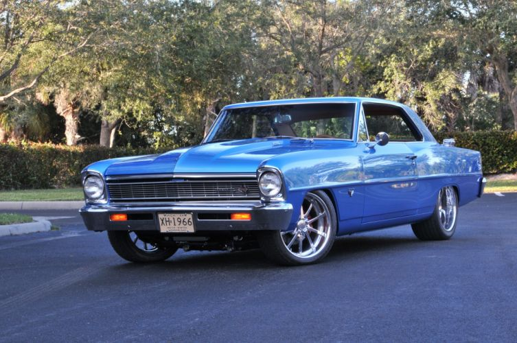 1966 Chevrolet Chevy Nova Coupe Hardtop Super Street Pro Touring Cruiser USA -02 wallpaper