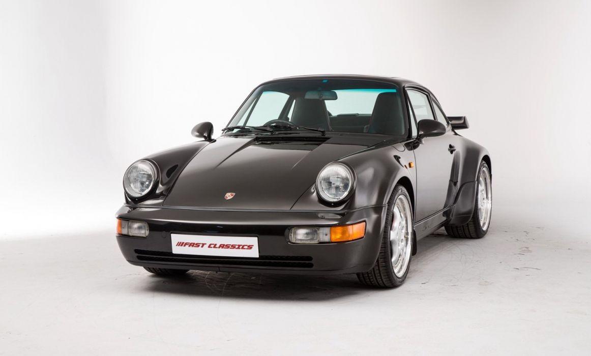 Porsche 911 Turbo UK-spec (964) cars 1992 wallpaper
