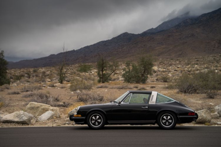 1972 Porsche 911 Do 2 4 Targa US-spec (911) cars black wallpaper