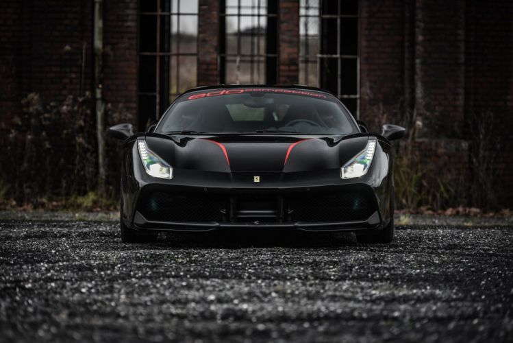Edo Competition Ferrari 488 GTB 2015 cars black modified wallpaper