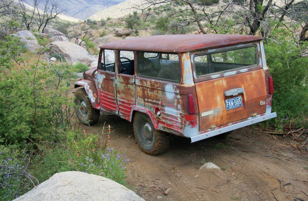 1965 TOYOTA FJ45LV LAND CRUISER WAGON offroad 4x4 custom truck suv classic statiowagon wallpaper