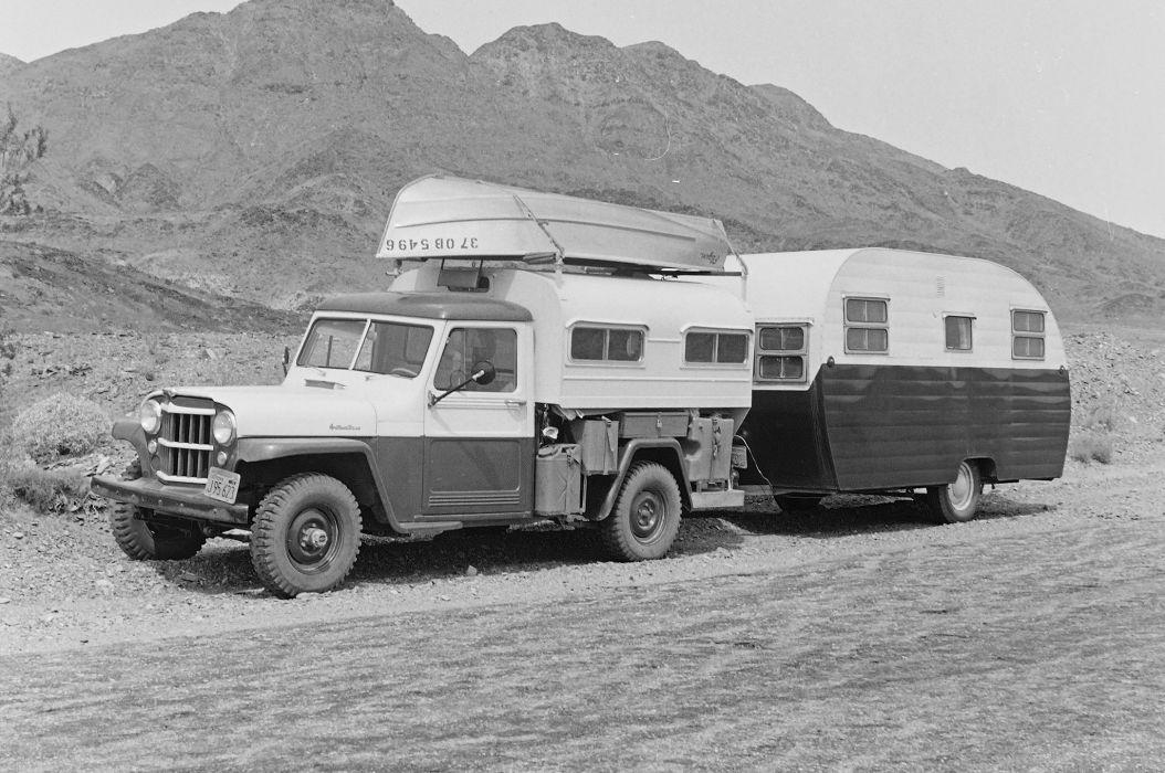 JEEP classic camper offroad 4x4 custom truck motorhome pickup wallpaper