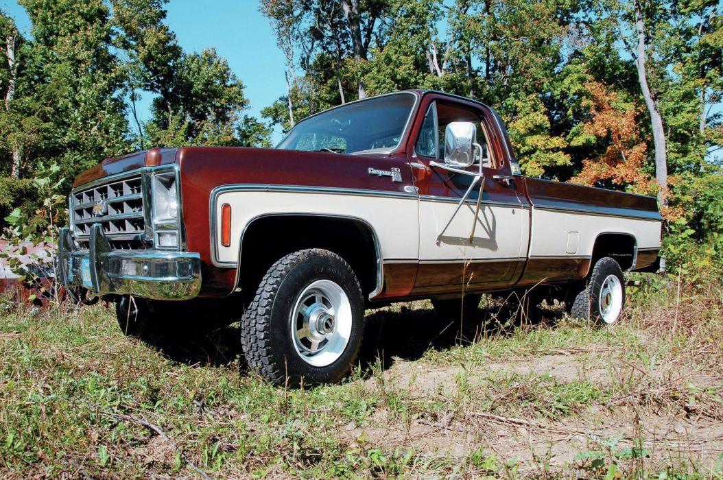 1979 CHEVROLET K30 CHEYENNE pickup offroad 4x4 custom truck wallpaper