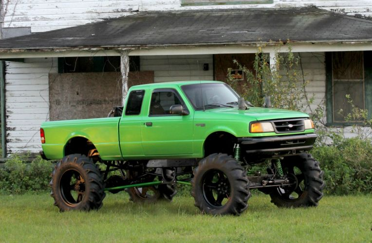 1995 FORD RANGER pickup offroad 4x4 custom truck wallpaper