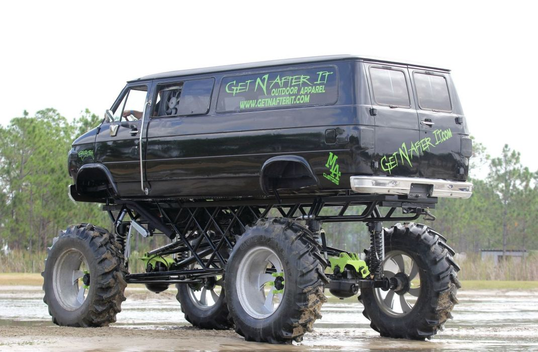 1993 CHEVROLET 3500 VAN offroad 4x4 custom truck wallpaper
