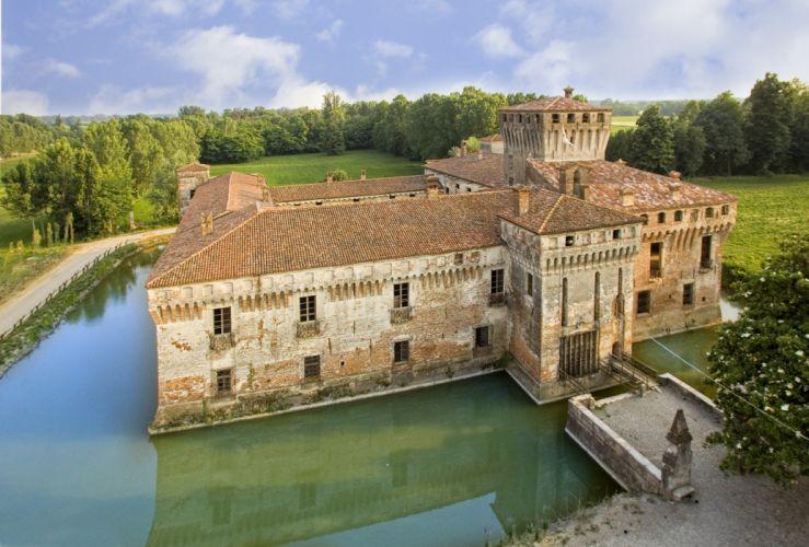castillo pademello italia arquitectura lago wallpaper