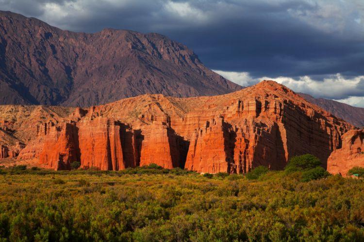Argentina Mountains Shrubs El Cafayate Salta Nature wallpaper