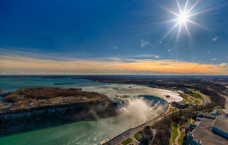 Sky Waterfalls Canada Niagara Falls Nature wallpaper