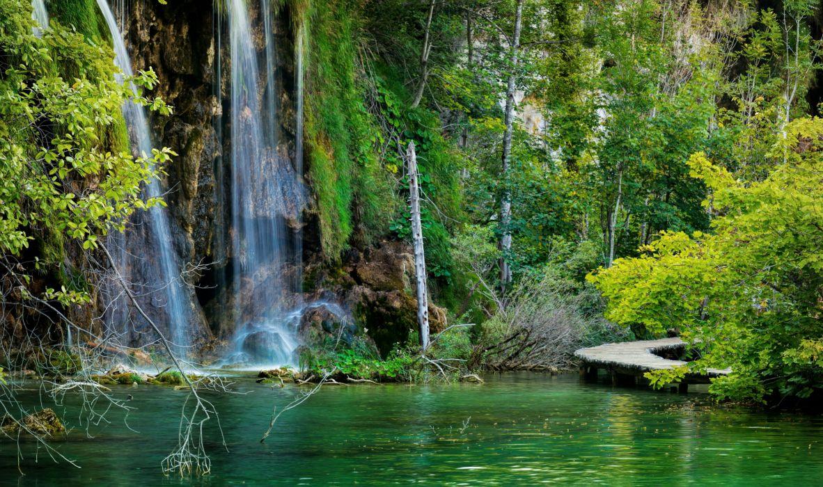 gardens Waterfalls Italy Ninfa Cisterna di Latina Nature (3) wallpaper