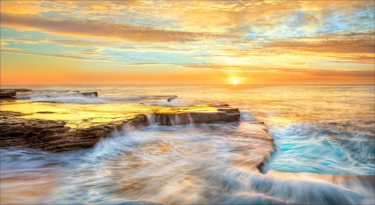 Australia Coast Sea Maroubra New South Wales Nature wallpaper