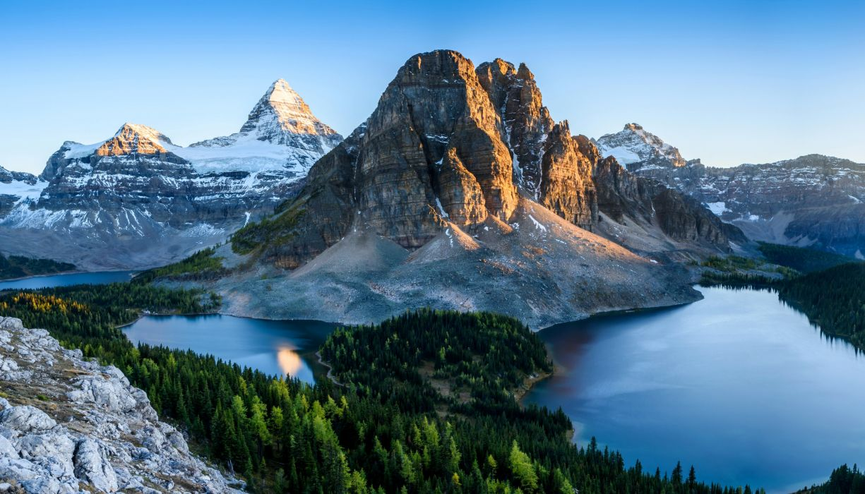 Canada Parks Mountains Lake Forests Scenery Banff Nature wallpaper