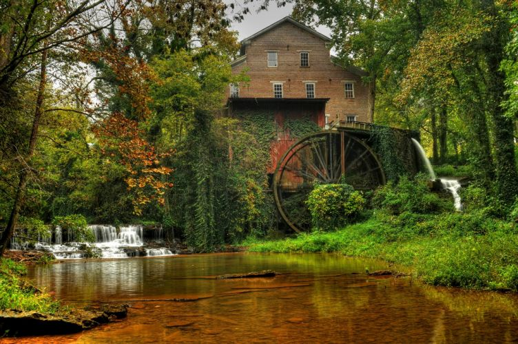 Rivers Mill Nature wallpaper