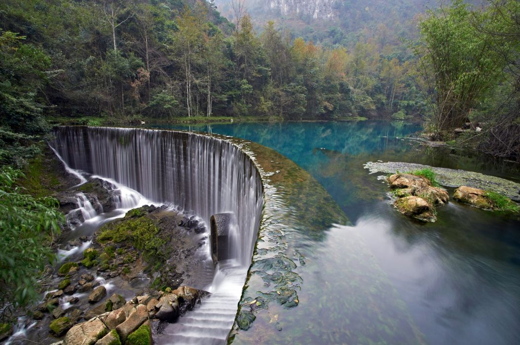 Croatia Parks Waterfalls Lake Forests Plitvice Lakes National Park Nature wallpaper