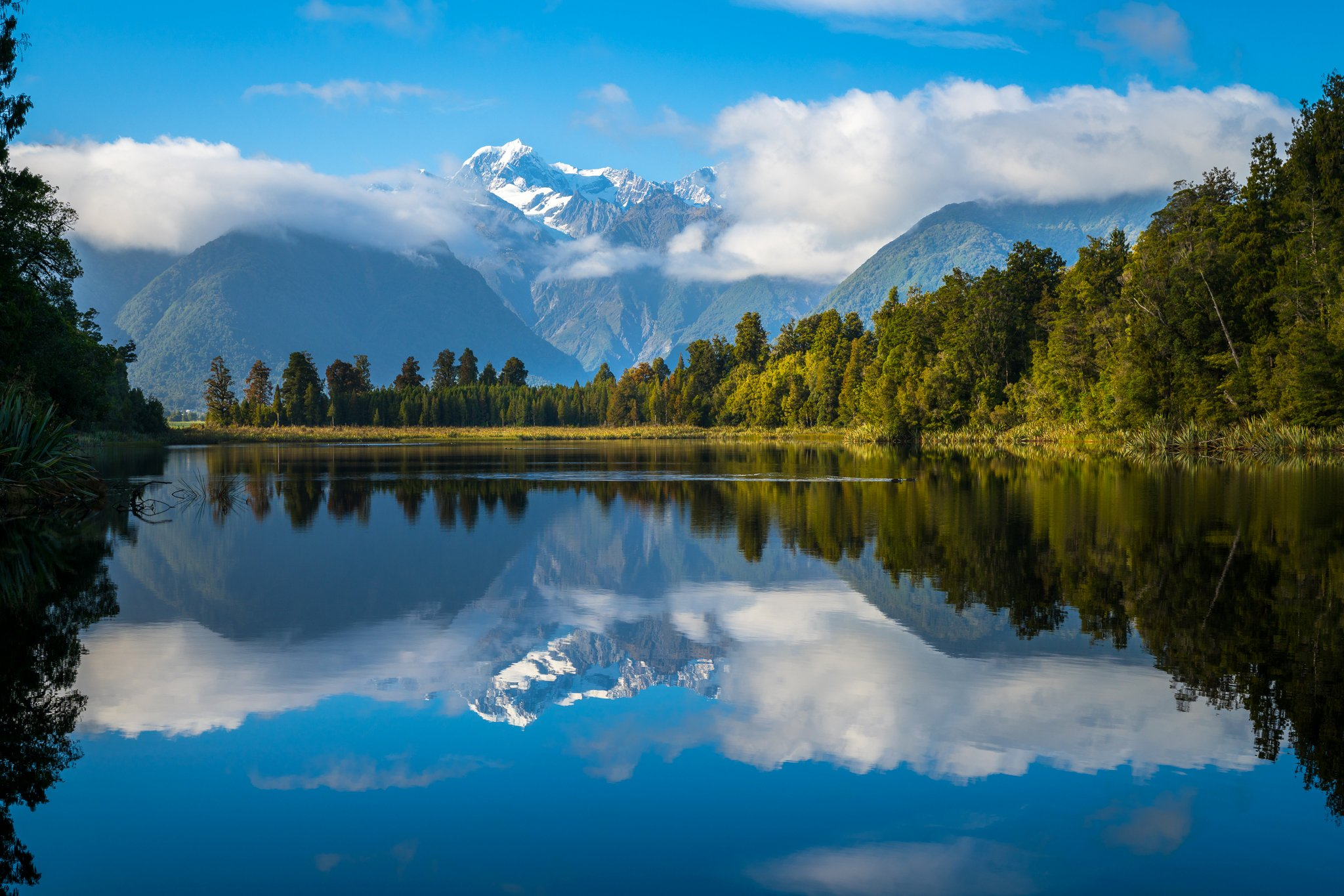 ニュージーランド Twitter: New Zealand Scenery Mountains Lake Forests Clouds Lake Matheson Nature Wallpaper