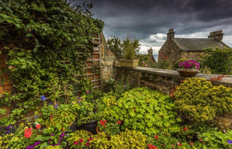 Scotland Gardens Pitenweem Nature wallpaper