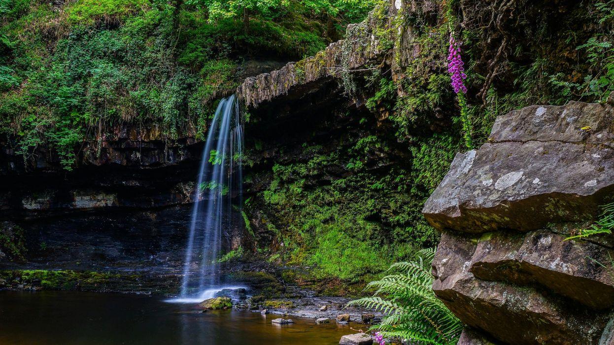 Waterfalls Crag Nature wallpaper