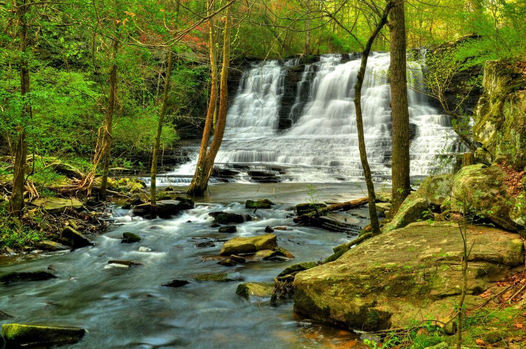 Waterfalls Rivers Nature wallpaper