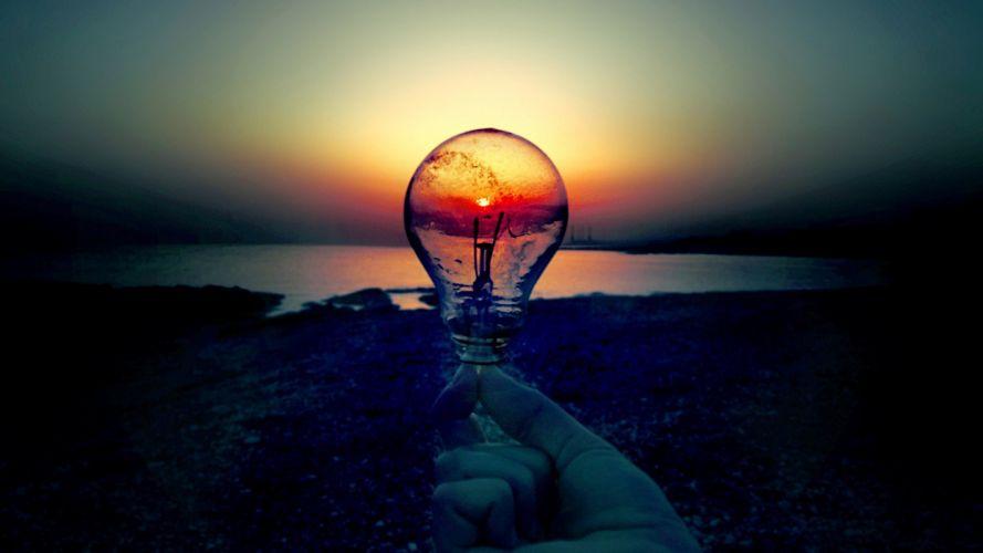 Creative Sunset Scene Capture in Bulb Photo wallpaper