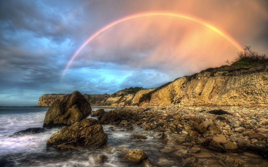 Rainbow Nature wallpaper