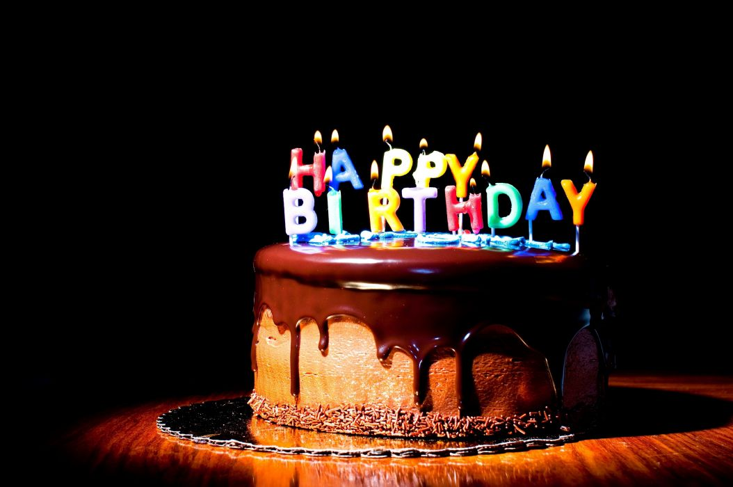 Happy Birthday Wish on Cake wallpaper