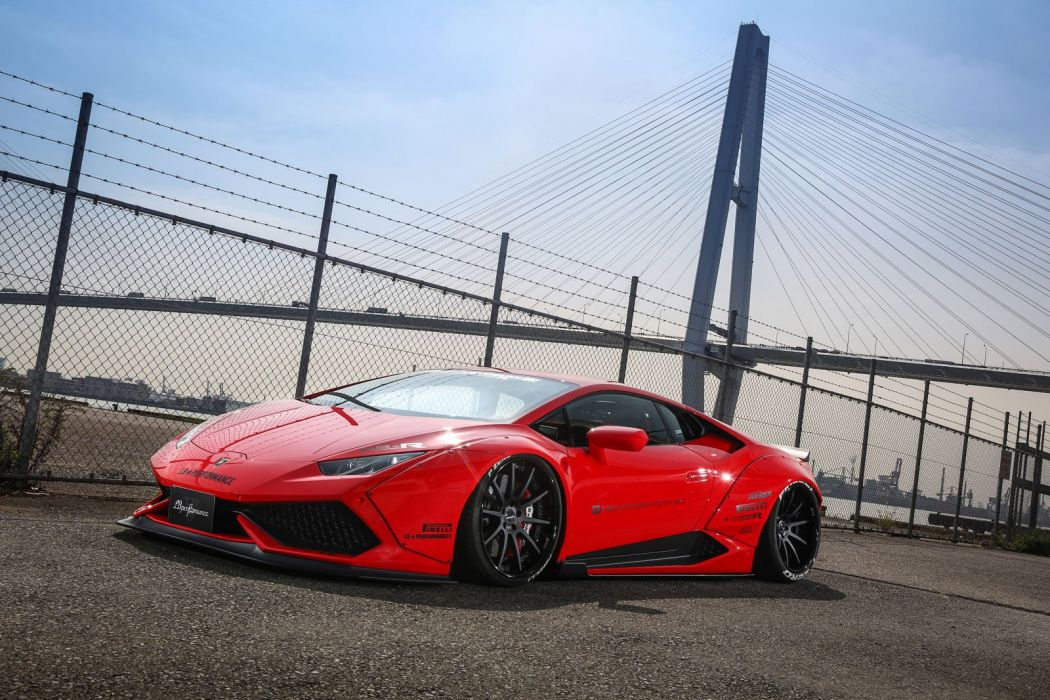 Liberty Walk 2016 Lamborghini Huracan cars bodykit modified wallpaper