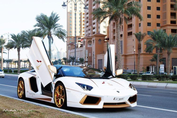 Gold Plated Lamborghini Aventador cars modified wallpaper