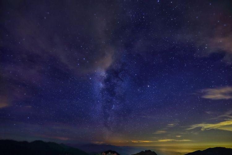 Sky Stars Night Nature wallpaper