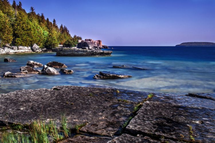 Canada Coast Tobermory Ontario Nature wallpaper