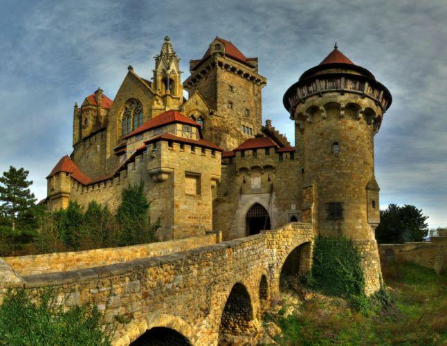 castillo medieval austria arquitectura wallpaper