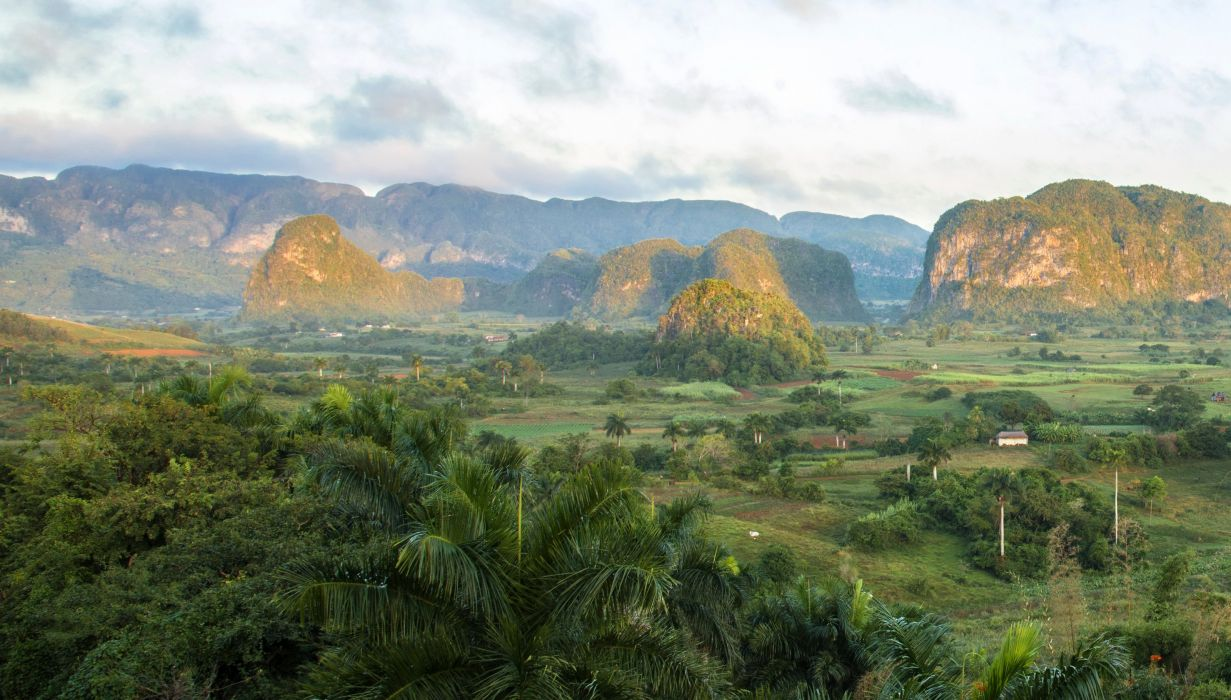 Cuba Mountains Fields Vinales Pinar del Rio Nature wallpaper