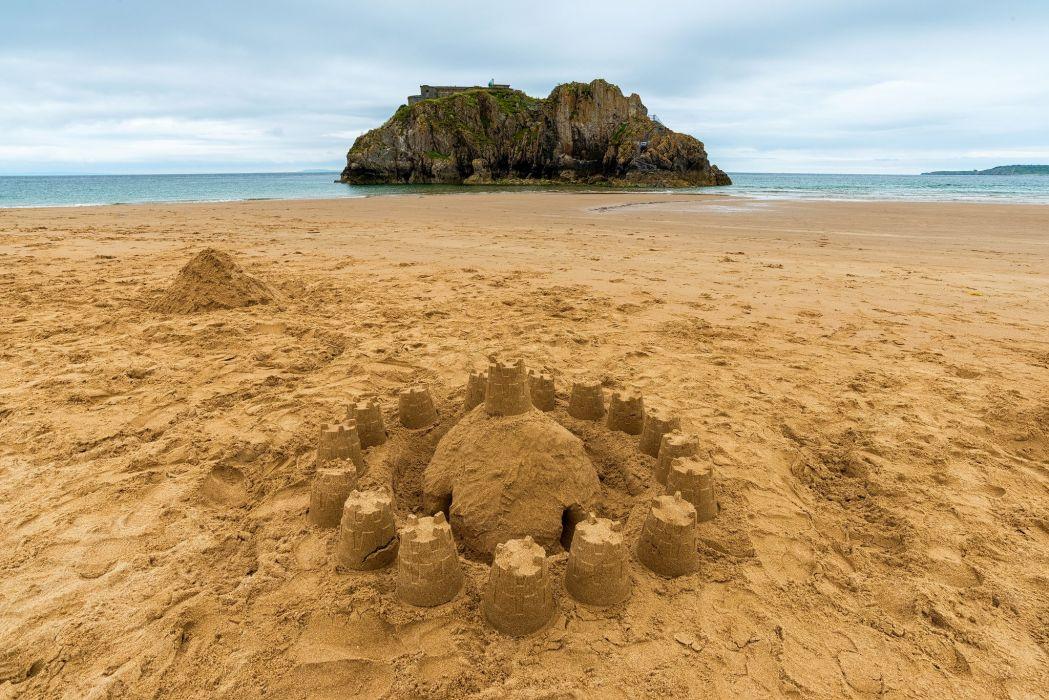 Sea Beach Sand Nature wallpaper