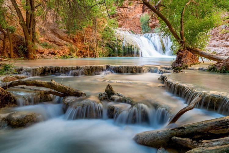 USA Waterfalls Rivers Beaver Falls Grand Canyon Nature wallpaper