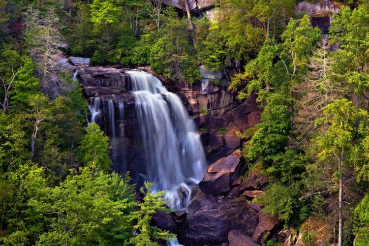 Waterfalls USA North Carolina Nature wallpaper