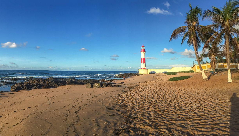 Brazil Coast Lighthouses Scenery Sky Palma Beach Salvador Bahia Nature wallpaper