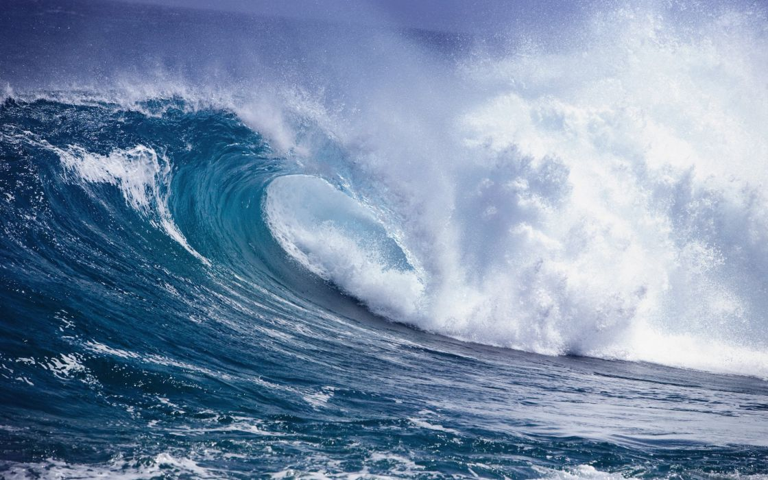 Waves Sea Ocean Nature wallpaper