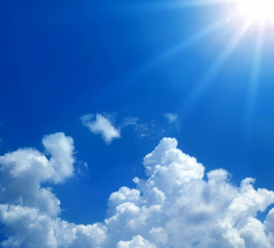 Sky Clouds Rays of light Nature wallpaper