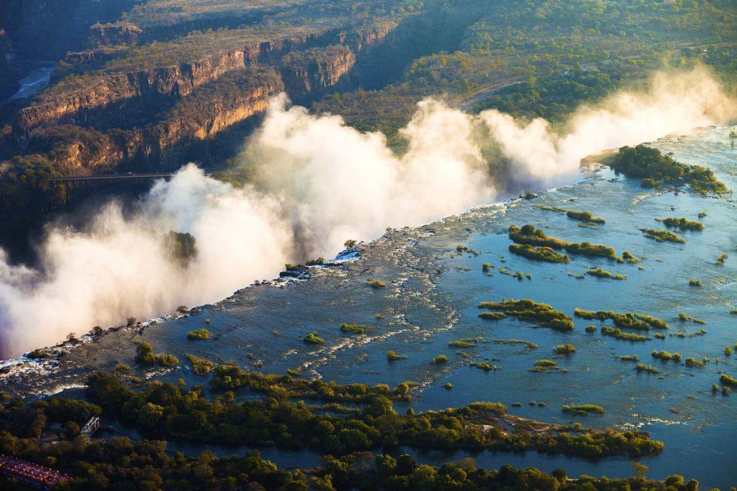 Tropics Waterfalls Rivers Zimbabwe Victoria Falls Nature wallpaper