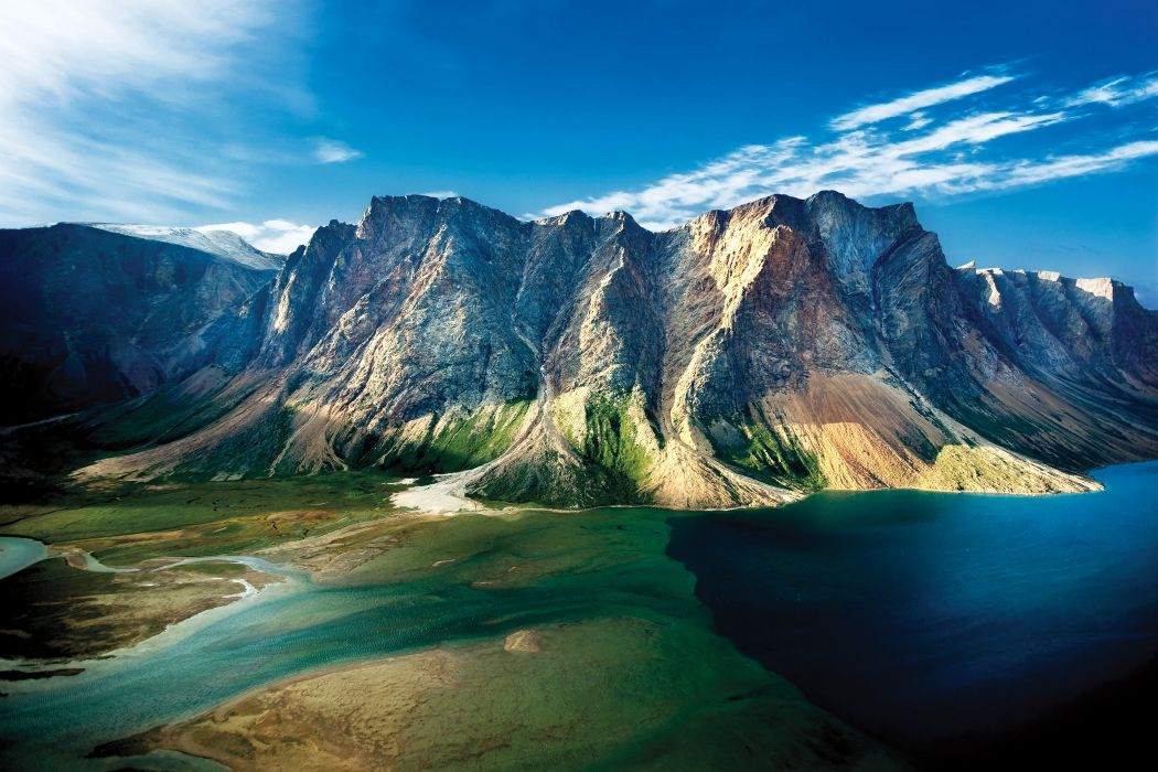 Canada Parks Mountains Lake Torngat Mountains National Park Nature wallpaper