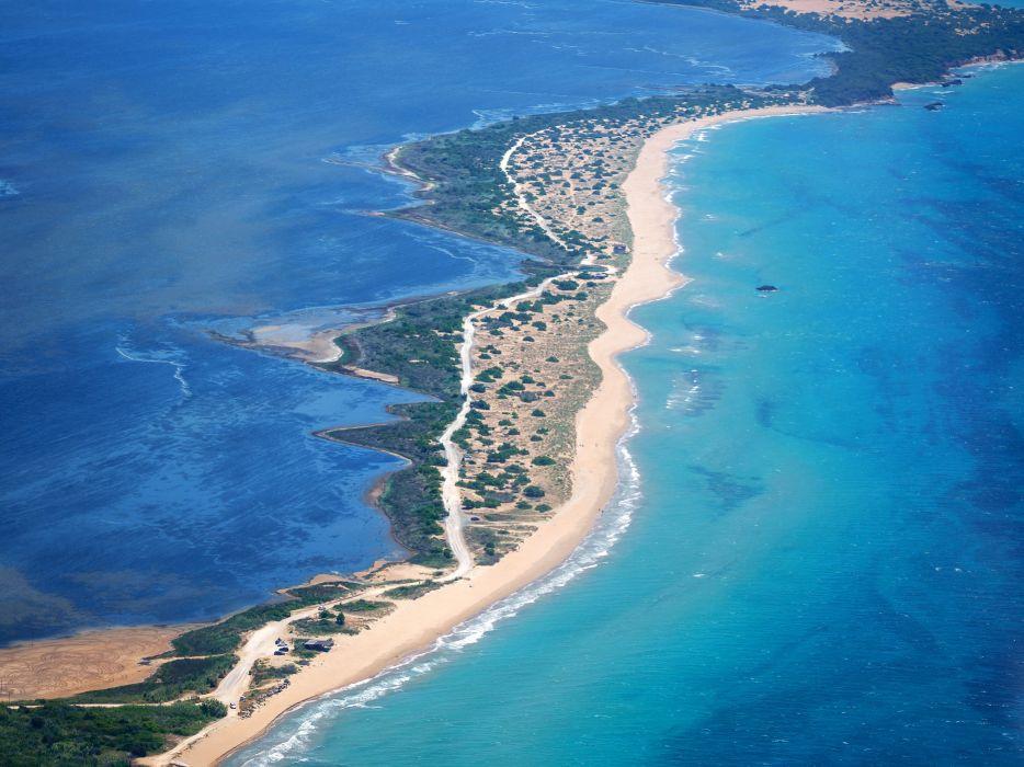 Greece Sea Coast Corfu Nature wallpaper