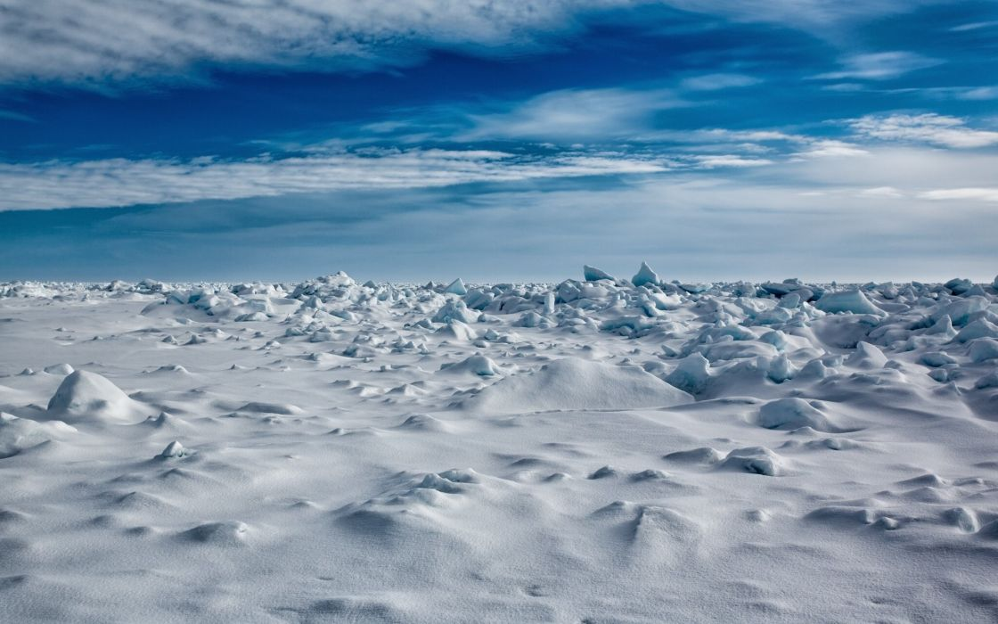 Norway Sky Snow Svalbard Nature wallpaper