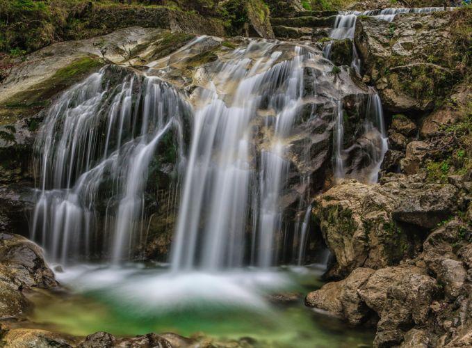 England Waterfalls Stones HDR Beezley Falls Ingleton North Yorkshire Trail Nature wallpaper