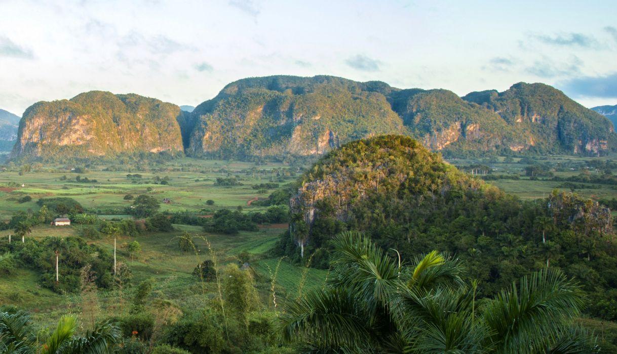 Cuba Scenery Mountains Fields Palma Vinales Pinar del Rio Nature wallpaper