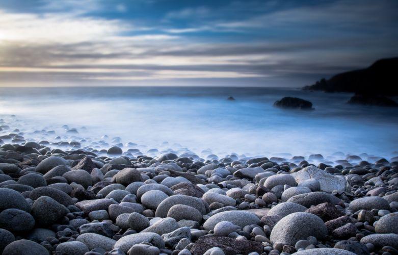 Stones Coast Nature wallpaper